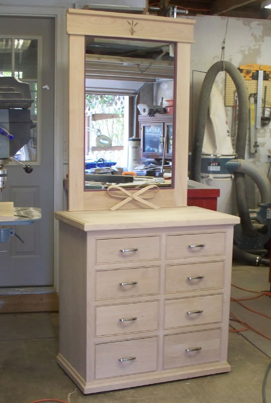 Bedroom Dresser and Mirror made with Sommerfeld Tools for Wood.