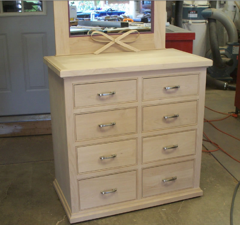 Close up of Dresser.