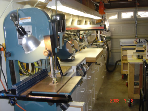 Woodworking Shop including Sommerfeld's Own Router Table Top.